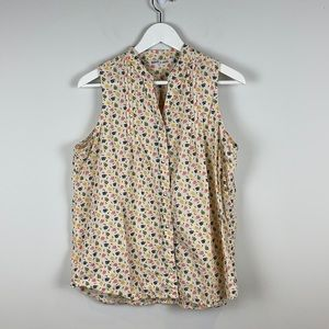 Woolrich Hashtags Button Down Sleeveless Top Large